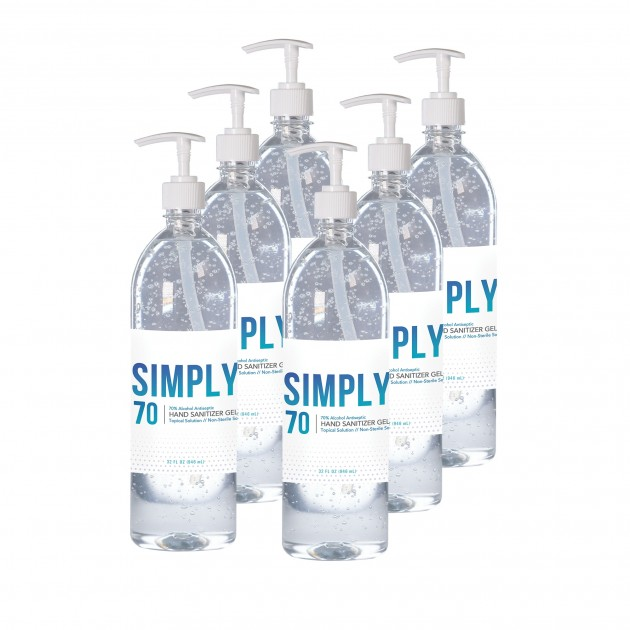 32oz - Froggy's Simply Sanitizer™ Gel with Included Pump Top - 6 Pack