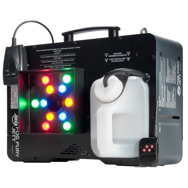 American DJ Fog Fury Jett - 700 Watt UPSHOT Fogger with DMX, Wireless Remote - 12x 3-Watt RGBA LEDs - 20,000 CFM -  top