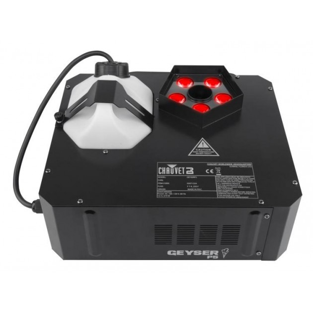 Chauvet Geyser P5 - RGB CO2 Blast Effect Fogger and LED Effects Light and DMX - 13,000 CFM, 700 Watts, Wireless Remote