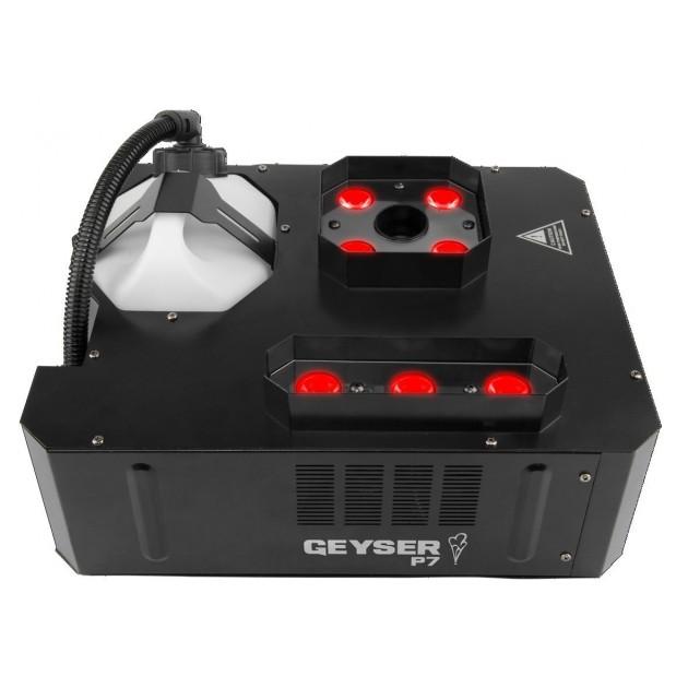 Chauvet Geyser P7 - Penta-color RGBA+UV CO2 Blast Effect Fogger and Dual LED Effects Light, DMX