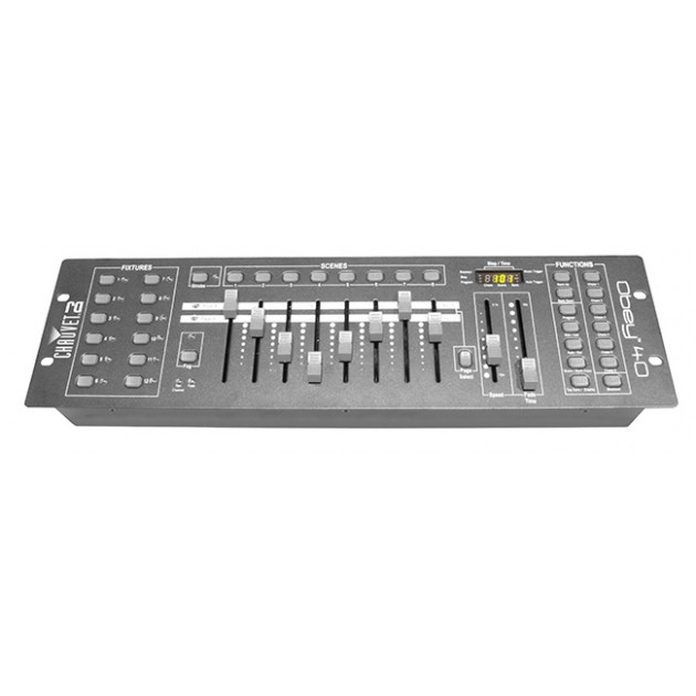 Chauvet DJ - Obey 40 DMX Control Board - Easily control up to 12 intelligent lights with up to 16 channels each
