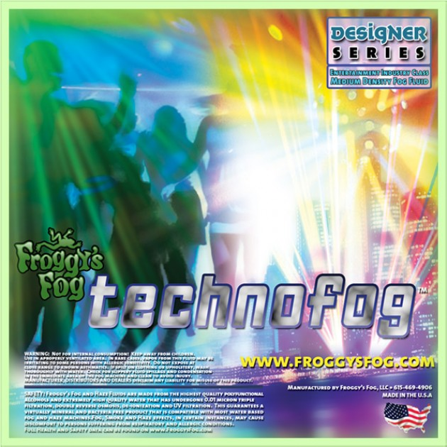 Techno Fog - DJ and Club Mix - Medium Density Fog Machine Fluid - Fog Juice