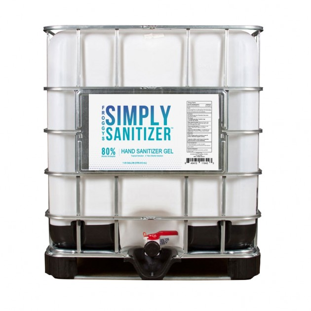 Froggy's Simply Sanitizer Gel - 250 Gallon Tote