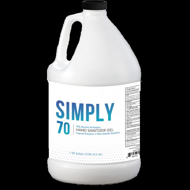 1 Gallon (3785.412 ml) - Froggys Simply Sanitizer™ - Gel Hand Rub Formulation