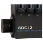 Antari SDC-12 Package - 12 Channel DMX Controller with DMX Power Trigger, 3Pin to 5 Pin Adapter and 25' 3 Pin DMX Cable - Battery