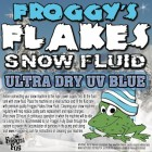 4 Gal Case - BLUE UV Snow machine Fluid - Froggys Flakes - Evap Formula