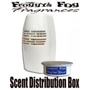 Froggys Fog - White Scent Distribution Box - 250 Sq. Ft. Coverage Battery Powered - No Scent Cup Included