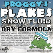 1 Gallon - DRY Snow Juice Machine Fluid - Froggys Flakes (50-75 Foot Float / Drop) Low Residue Formula