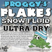 1 Gallon - ULTRA DRY - NO ODOR - Snow Juice Machine Fluid - Froggys Flakes ULTRA (30-50 Foot Float / Drop)
